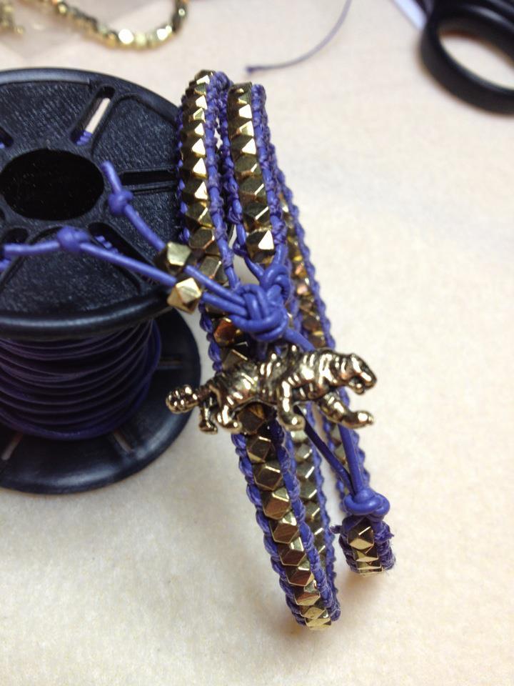 LSU wrap bracelet